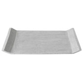 Moon Collection Decorative Polystone Tray in Light Grey, 11-13/16''W x 7-7/8''D x 1''H