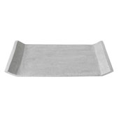 Moon Collection Decorative Polystone Tray in Light Grey, 15-3/4''W x 11-13/16''D x 1''H