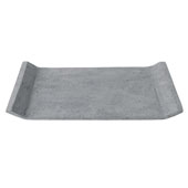 Moon Collection Decorative Polystone Tray in Dark Grey, 15-3/4''W x 11-13/16''D x 1''H