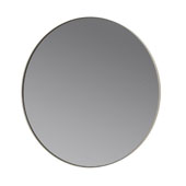 Rim  Collection 31-1/2'' Diameter x 1-3/16'D Round Accent Mirror - Smoke with Ashes with Roses in Light Grey, 31-1/2''W x 31-1/2''D x 1-3/16''H
