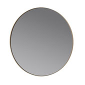 Rim  Collection 31-1/2'' Diameter x 1-3/16'D Round Accent Mirror - Smoke with Nomad in Khaki, 31-1/2''W x 31-1/2''D x 1-3/16''H