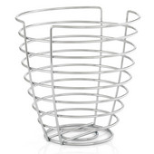 Wires Collection Tall Round Basket in Chrome Plated, 9-21/32'' W x 9-21/32'' D x 9-21/32'' H