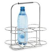 Wires Collection Wire Bottle Holder in Chrome-Plated, 11-2/5'' W x 7-9/10'' D x 13-2/5'' H