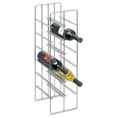 12 Bottle Steel Wine Rack, 7-1/2'' W x 8-7/10'' D x 26'' H, Matte Nickel Plated