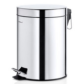 Nexio Collection Pedal Waste Bin with Polished finish, 5L (1.3 gallon), 10-1/4''W x 8''D x 11''H