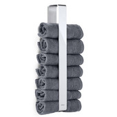 Nexio Vertical Stacking Guest Towel Holder, Polished Stainless Steel, 3-1/8''W x 1-3/4''D x 18-1/2''H