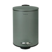 Tubo Collection Pedal Bin Wastepaper Basket 3L in Agave Green, 8-1/2''W x 6-11/16''D x 9-5/8''H