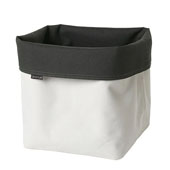 Ara Collection Storage Basket Reversible Canvas XL in Sand Anthracite, 9-1/16''W x 9-1/16''D x 12-3/16''H