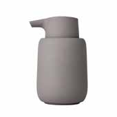 Sono Collection Soap Dispenser, Taupe, 3-3/8''W x 3-11/16''D x 5-11/16''H