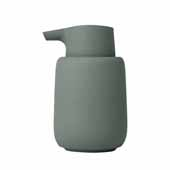 Sono Collection Soap Dispenser, Agave Green, 3-3/8''W x 3-11/16''D x 5-11/16''H