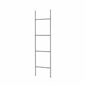 Fera Collection Tall Towel Ladder, Black, 17-11/16''W x 65''H