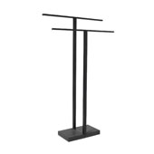 Menoto Collection Freestanding Towel Stand  Black Titanium Coated, 6-5/16''W x 19-11/16''D x 33-7/8''H