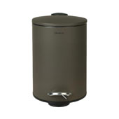 Tubo Collection Pedal Bin Wastepaper Basket Tarmac in Olive, 8-1/2''W x 6-11/16''D x 9-9/16''H