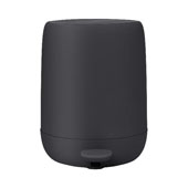 Sono Collection Pedal Bin Wastepaper Basket Magnet (Charcoal) 1.32 Gallon, 10-3/16''W x 9-7/16''D x 12-3/16''H