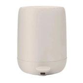 Sono Collection Pedal Bin Wastepaper Basket Moonbeam (Cream) 1.32 Gallon, 10-3/16''W x 9-7/16''D x 12-3/16''H