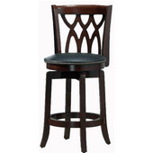 24'' ''Cathedral'' Bar Stool in Dark Cherry Finish
