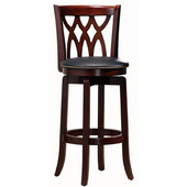 29'' ''Cathedral'' Bar Stool in Dark Cherry Finish