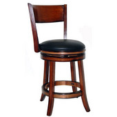 24'' ''Palmetto'' Bar Stool in Walnut Finish, Shown in Chestnut Finish