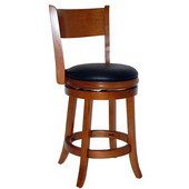 24'' ''Palmetto'' Bar Stool in Fruitwood Finish