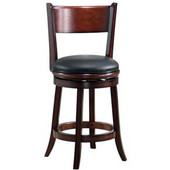 24'' ''Palmetto'' Bar Stool in Brandy Finish