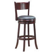 29'' ''Palmetto'' Bar Stool in Walnut Finish, Shown in English Tudor Finish