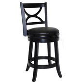 24'' ''Florence'' Bar Stool in Black Sandthru Finish
