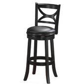 29'' ''Florence'' Bar Stool in Black Sandthru Finish