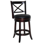 24'' ''Georgia'' Bar Stool in Cappuccino Finish