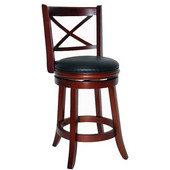 24'' ''Georgia'' Bar Stool in Light Cherry Finish