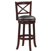 29'' ''Georgia'' Bar Stool in Cappuccino Finish