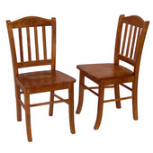 Pair of Shaker Dining Chairs, Oak Finish