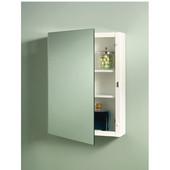 Jensen (Formerly ) Top Sider Frameless Bathroom Medicine Cabinets, Polished Edge, 3 Steel Shelves, 16''W x 5''D x 26''H