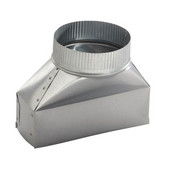 Rectangular to Round Transition Ducting Accessories, Different Sizes Available