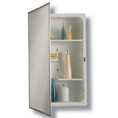 Jensen (Formerly ) Modular Stainless Steel Framed Recessed Medicine Cabinet, 16'' W x 4-1/2'' D x 26'' H