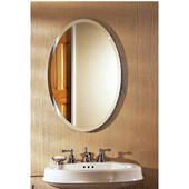 Jensen (Formerly ) Metro Beveled Frameless Oval Recessed Medicine Cabinet, 21-1/4''W x 4-1/2''D x 31-1/4''H