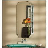Jensen (Formerly ) Metro Octagonal Beveled Frameless Recessed/Wall Surface Medicine Cabinet, 15''W x 5''D x 31-1/4''H