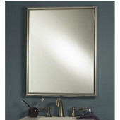 Jensen (Formerly ) Harmony Chrome Finish Framed Single Rectangular Recessed Medicine Cabinet, 24'' W x 5 7/8'' D x 30'' H
