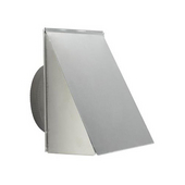 10'' Round Fresh Air Inlet Wall Cap, Aluminum