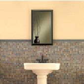 Jensen (Formerly Broan) Recessed Locking Bath Cabinet, Oil-Rubbed Bronze, 25-1/2H x 15-3/4W x 5D