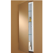 Jensen (Formerly ) Low Profile Frameless Steel Recessed Mount Rectangular Medicine Cabinet, with White Interior
