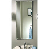 Jensen (Formerly ) Stainless Steel Gallery Deluxe Framed/Frameless Beveled Recess/Surface Medicine Cabinet, 15'' W x 5'' D x 35'' H