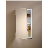 Jensen (Formerly ) Perfect Square Frameless Bathroom Medicine Cabinet, Polished Edge, 3 Steel Shelves