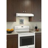 Tenaya BNSC1 Series, 30'' Intermediate Under Cabinet Range Hood, 250 CFM, 1.2 Sones, White, 29-7/8'' W x 21-1/8'' D x 5'' H, Available in Multiple Sizes