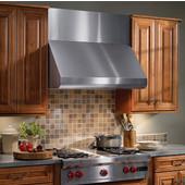 Elite Rangehood, Wall Canopy Range Hood, 30'' - 48'' Widths Available, 600-1500 CFM, Stainless Steel