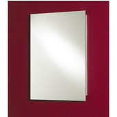 "Jensen (Formerly ) Focus Frameless Steel Recessed Single Door Medicine Cabinet, 16'' W x 3 11/16"" D x 26"" H"