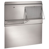 Elite Stainless Steel Backsplash w/ Shelves, 30''W