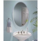 Jensen (Formerly ) Oval Frameless Bathroom Medicine Cabinet, 24'' W x 4-1/2'' D x 35-7/8'' H, Bevel Mirror