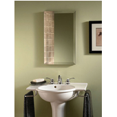 Jensen (Formerly ) Studio IV Frameless Bathroom Medicine Cabinet, 15'' W x 5'' D x 35'' H, Bevel Mirror, S/S Cabinet, Body