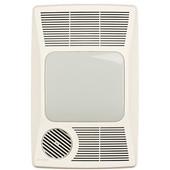 Heater / Fan / Light Bathroom Fan, 100 CFM, 2.0 Sones, Fluorescent Lighting