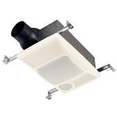 Heater / Fan / Light Bathroom Fan, 100 CFM, 2.0 Sones, Incandescent Lighting